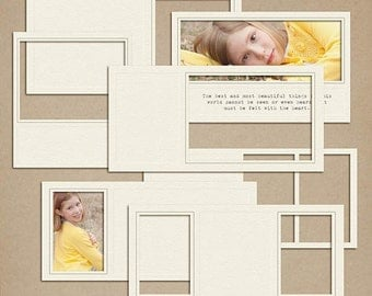 Embossed Frames Digital Scrapbooking frames INSTANT DOWNLOAD