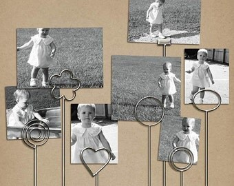 Metal Photo Holders - Digital Scrapbooking Elements INSTANT DOWNLOAD