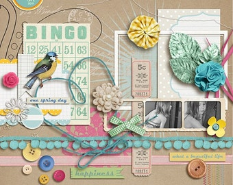 a spring day (elements) Digital Scrapbooking for Spring, Easter, Nature, collage sheet, crafts