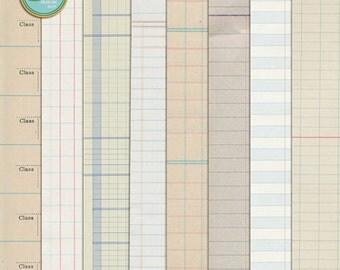 Ledger Papers - Digital Scrapbooking for Vintage, Heirloom, Ephemera  INSTANT DOWNLOAD