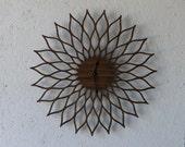 Mid Century Modern Inspired Lotus // Sunflower Clock