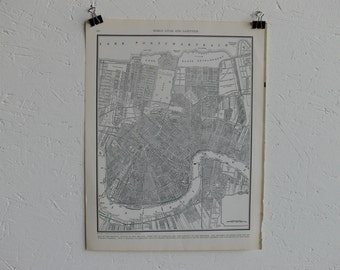 Vintage Map-City of New Orleans-Early 20th Century