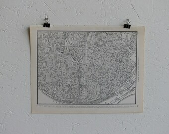 Vintage Map-City of St. Louis-Early 20th Century