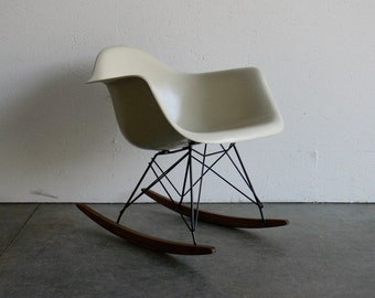 Eames for Herman Miller Fiberglass Arm Chair Rocker-RAR