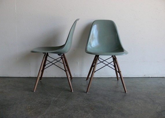 RESERVED Eames for Herman Miller Dowel Base Side Chair (Set of 2) FREE SHIPPING