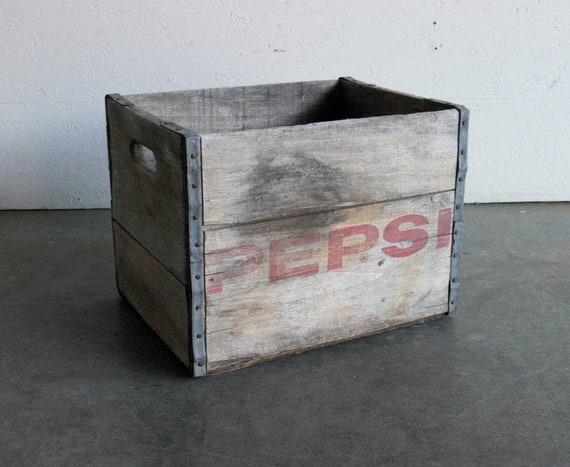 Vintage Pepsi Wooden Storage Crate