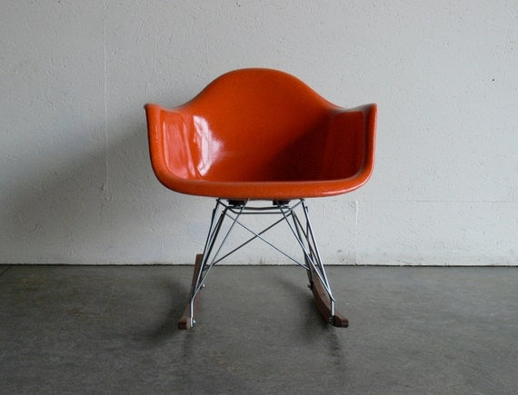 RESERVED Eames for Herman Miller Fiberglass Armchair Rocker