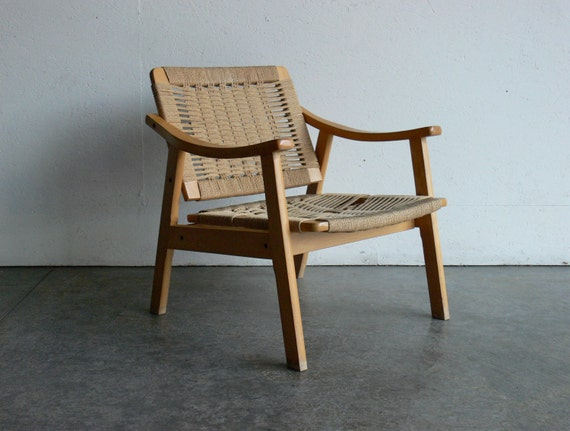 SALE Vintage Danish Style Mid Century Modern Lounge Chair