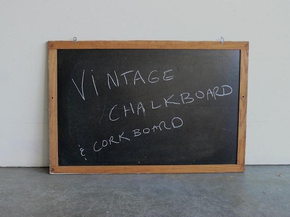 Vintage Chalkboard-(Large)