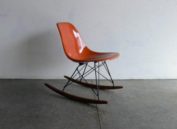 FREE SHIPPING-Eames for Herman Miller Fiberglass Side Chair Rocker