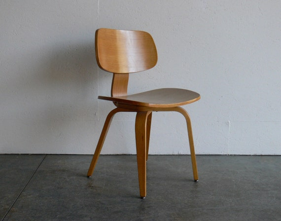 Vintage mid century modern thonet plywood chair by comod on etsy