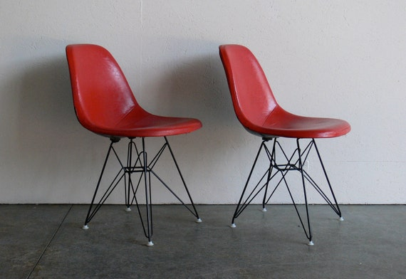 RESERVED-Eames for Herman Miller Eiffel Side Chairs (Set of 2)-DSR