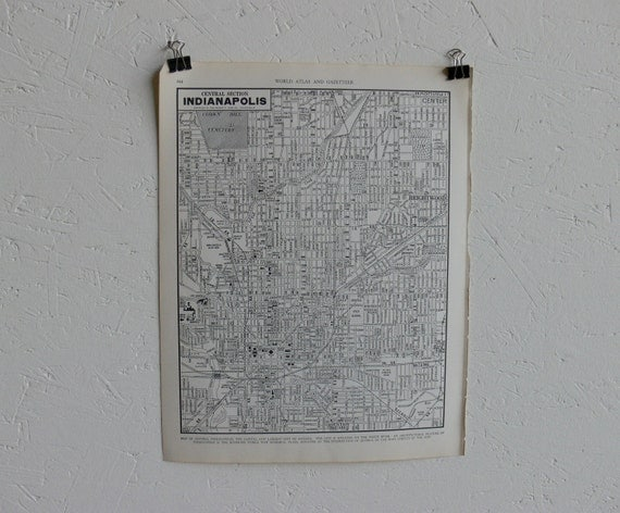 Vintage Map-City of Indianapolis-Early 20th Century