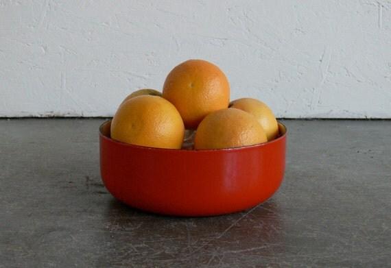 Vintage Mid Century Modern Enamel Bowl