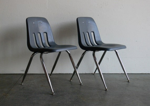 SALE-Vintage School Chairs Adult Sized (Set of 2)