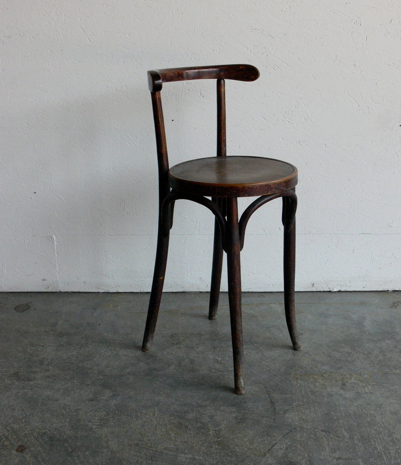 Old Wooden Stool ~ Vintage thonet style wooden stool