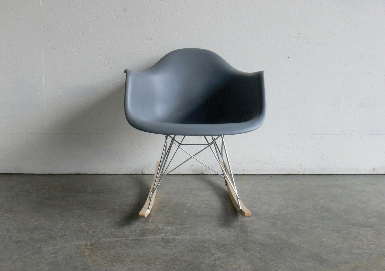 eames for herman miller molded plastic arm chair rocker rar