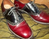 25% off enter coupon code rock64 sz 7d mens vintage ALLEN EDMONDS polo lace up saddle oxford shoes