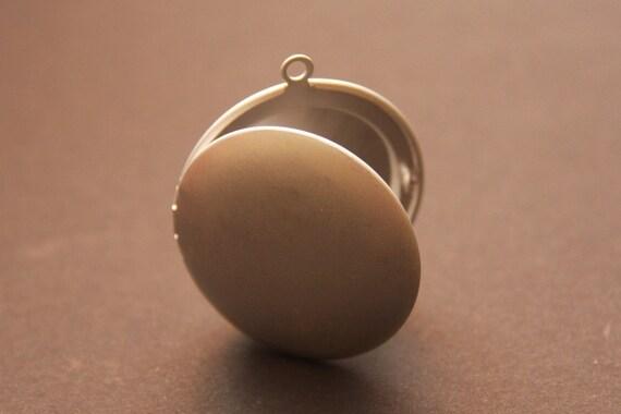 Bulk Wholesale Large Satin Finish Silver Lockets--  RARE-- 10 pieces