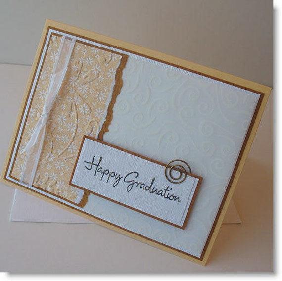 Graduation Greeting Card Handmade Blank Note Card