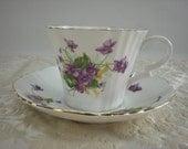 Royal Standard Tea Cup England Bone China Purple Flowers