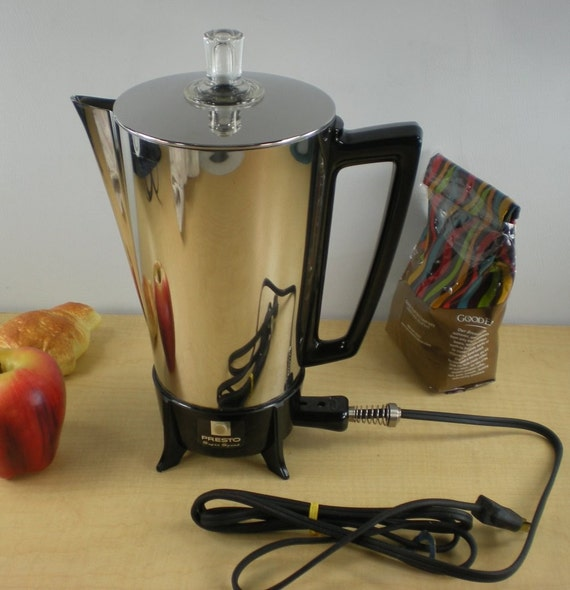 Presto Coffee Percolator Maker 9 Cup Stainless Vintage
