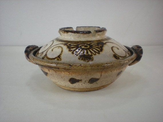 Large Clay Pottery Donabe Japanese Steamer Hot By