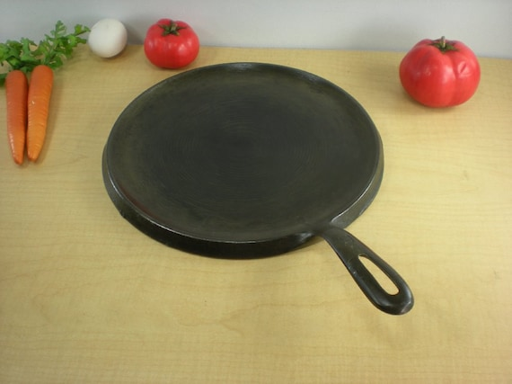 "Reserved for H. Rose... Cast Iron Round Griddle 10"" X -  No. 9"