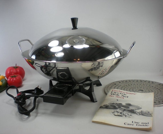Farberware Model 303 Electric Wok Stainless By Oldetymestore