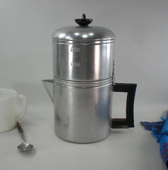Drip Coffee Maker Parts : 1930s Enterprise Drip-O-Lator Coffee Maker Aluminum Stove