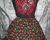 Very Cherry Cute Ruffle Skirt-- 25% off