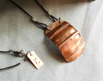 Fold Formed Copper Necklace