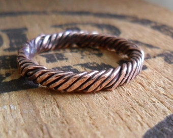 Simple Twist Copper Ring