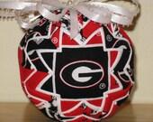 Georgia Bulldog Quilted Ornament
