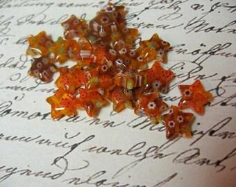 Millefiori Star Shaped Beads