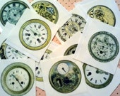 12 Antique Pocket Watches Edible Images for Sugar Cookies Chocolate covered Oreos Cupcakes