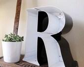 Vintage Metal Sign letter 'R'