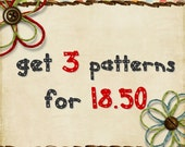 Get 3 sewing patterns for 18.50 USD - pdf sewing pattern promo - sale