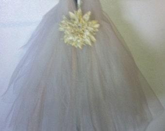 Ivory and Champange Flower Girl Tutu Dress
