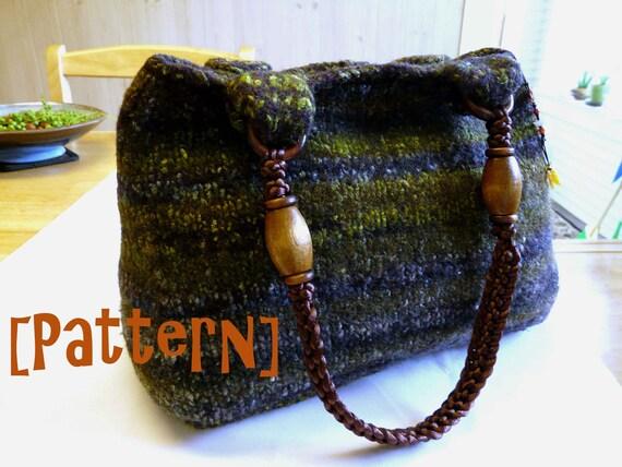 PDF Knitting Pattern- Wool Felted Purse