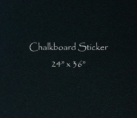 Chalkboard Vinyl 24 x 36 - make your own shapes or designs cut with scissors