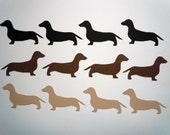 Dachshund Scrapbook Cutouts- 36 Piece Set