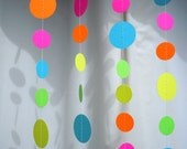 Neon Paper Circle Garland
