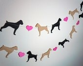 Boxer Love Paper Garland - Valentine's Day Decor - Choose Your Colors