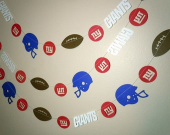 New York Giants Themed Paper Garland