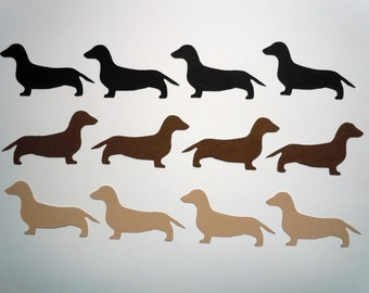Dachshund Scrapbook Cutouts- 36 Piece Set
