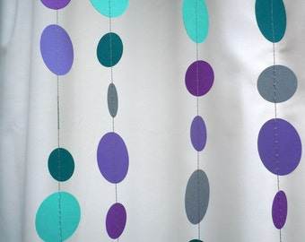 Cool Water Colored Paper Garland