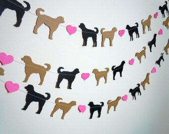Labradoodle Love Paper Garland - Valentine's Day Decor - Choose Your Colors