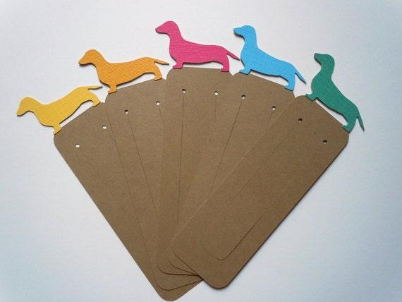 Reserved for Hazel Barnhill - Dachshund & Cat Bookmarks - Set of 40