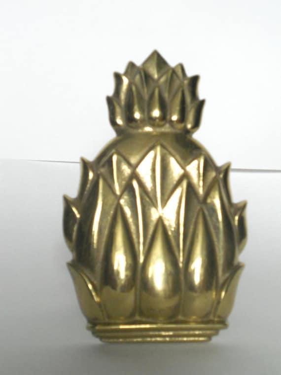 Brass pineapple door knocker by vintageelon on etsy - Pineapple door knocker ...